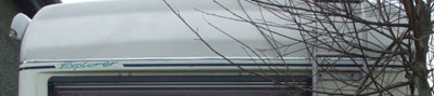 VW T4 Autohomes Explorer Roof Rear Stripe and Logo