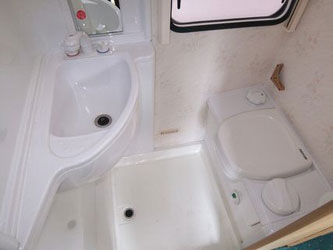 VW T4 Autohomes Merlin Shower Room